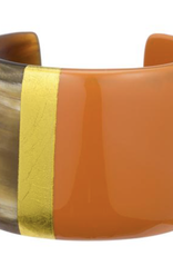 Vivo Buffalo Horn Cuff with Lacquer-Poppy