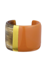 Buffalo Horn Cuff with Lacquer-Poppy