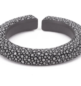 Vivo Shagreen Narrow Cuff-Gray