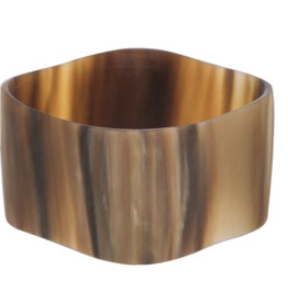 Vivo Buffalo Horn Rounded Square Bangle