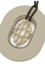 Vivo Oval Horn Pendant-Wheat Lacquer