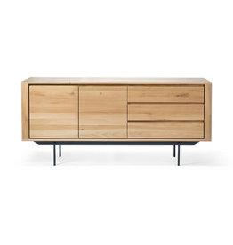 Ethnicraft USA LLC Oak Shadow Sideboard - 2 doors - 3 drawers - metal legs