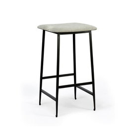 DC counter stool (without backrest) - light grey