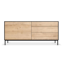 Oak Blackbird sideboard - 2 doors - 3 drawers  - Varnished