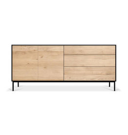 Ethnicraft Oak Blackbird sideboard - 2 doors - 3 drawers  - Varnished
