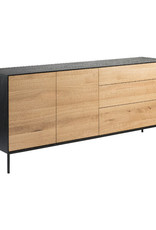 Oak Blackbird sideboard - 2 doors - 3 drawers  - Varnished