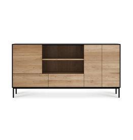 Ethnicraft Oak Blackbird sideboard - 3 doors - 2 drawers  - Varnished