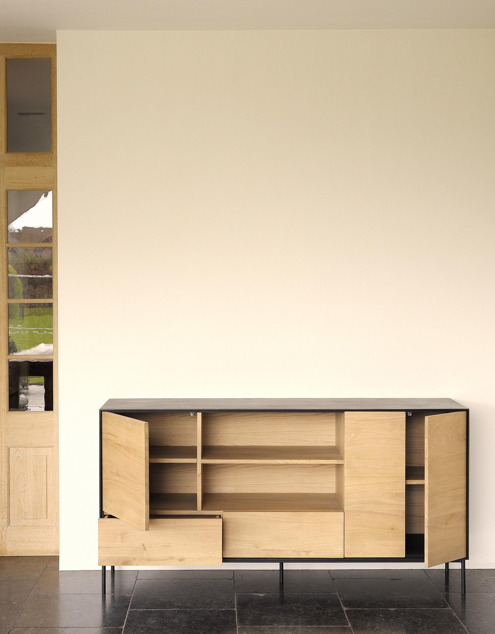 Oak Blackbird sideboard - 3 doors - 2 drawers  - Varnished