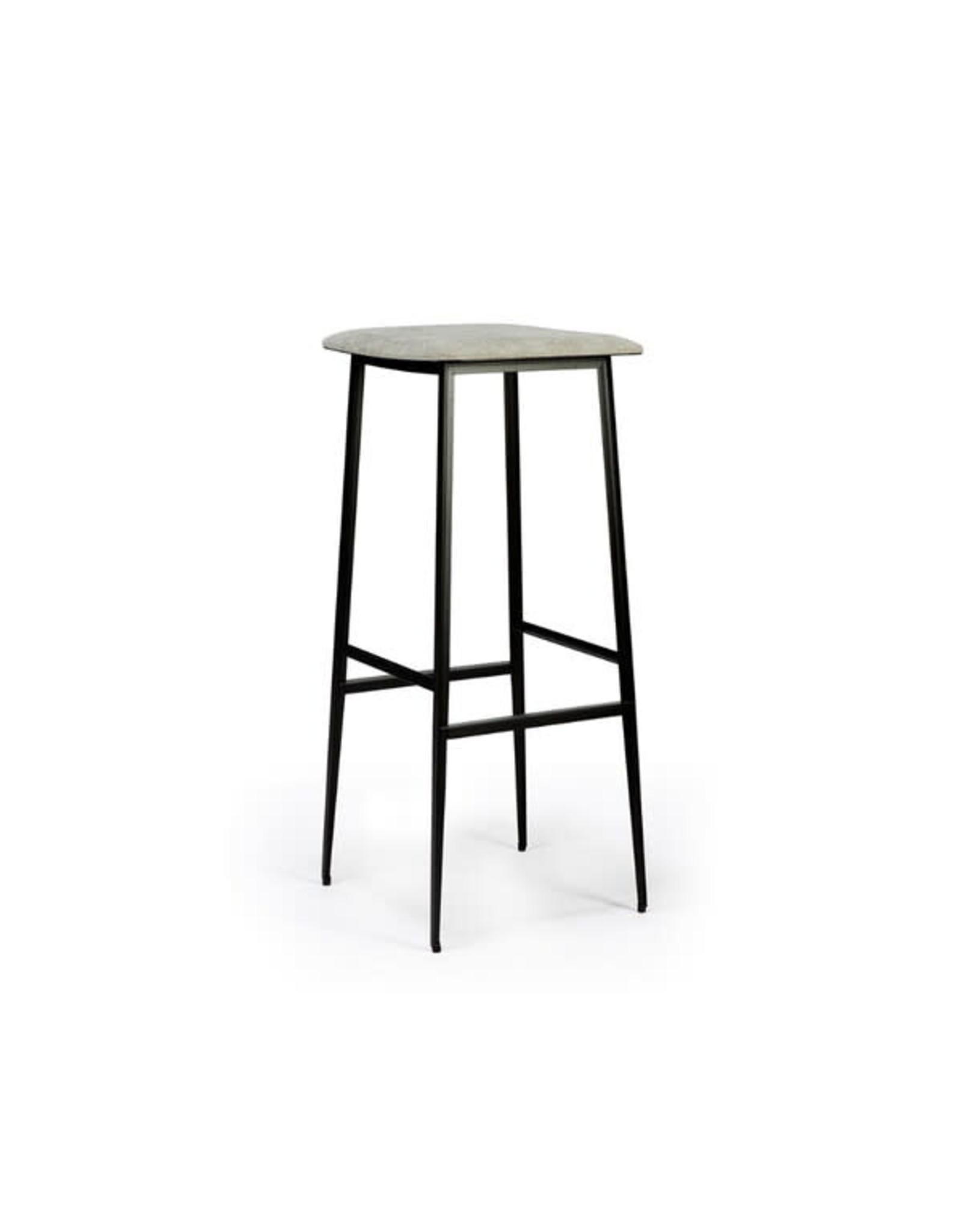 Ethnicraft DC bar stool (without backrest) - light grey