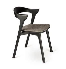 Oak Bok Black Dining Chair, Grey - Varnished