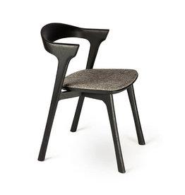 Ethnicraft Oak Bok Black Dining Chair, Grey - Varnished