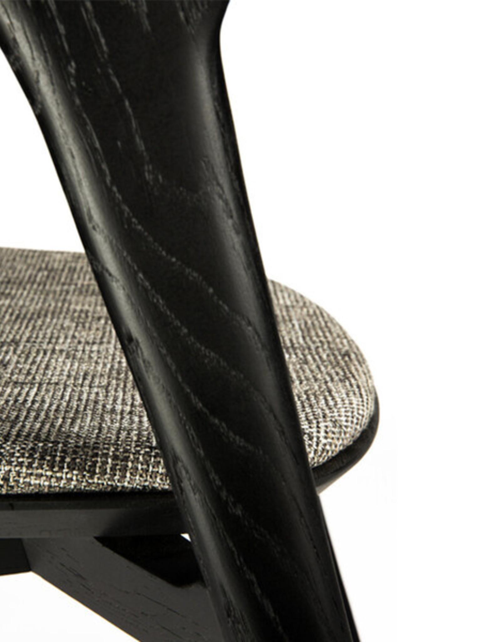 Oak Bok black dining chair - grey - Varnished