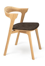 Oak Bok dining chair - dark brown - Varnished