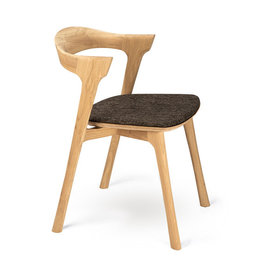 Oak Bok dining chair - dark brown - Varnished