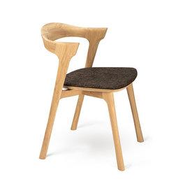 Ethnicraft Oak Bok dining chair - dark brown - Varnished
