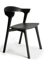 Oak Bok black dining chair - Varnished