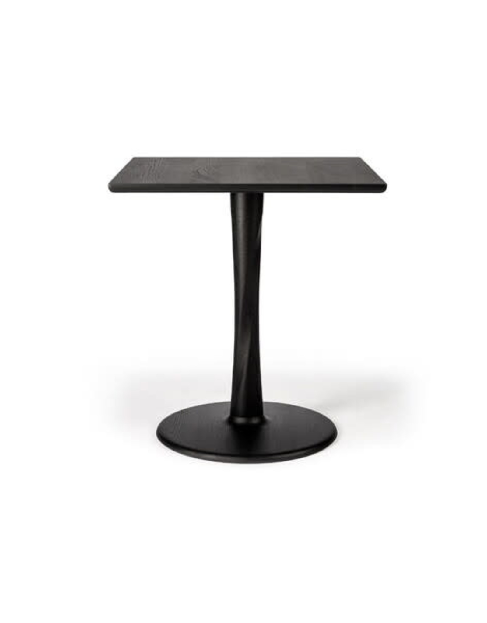 Oak Torsion dining table - square - black - Varnished