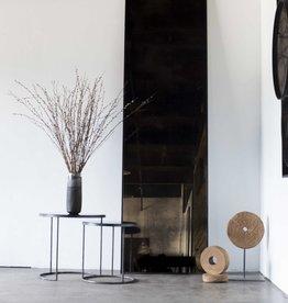 Bronze floor mirror - heavy aged - metal frame - rectangular 28 x 1 x 96