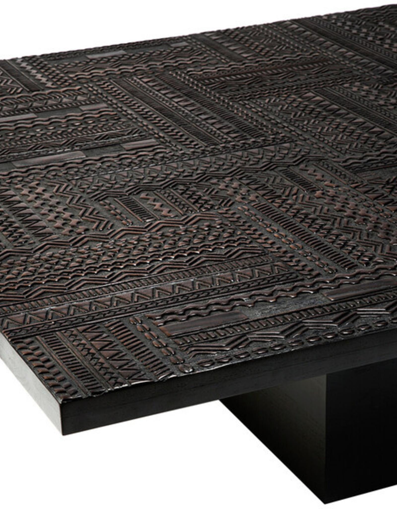 Teak Tabwa Blok coffee table - Varnished