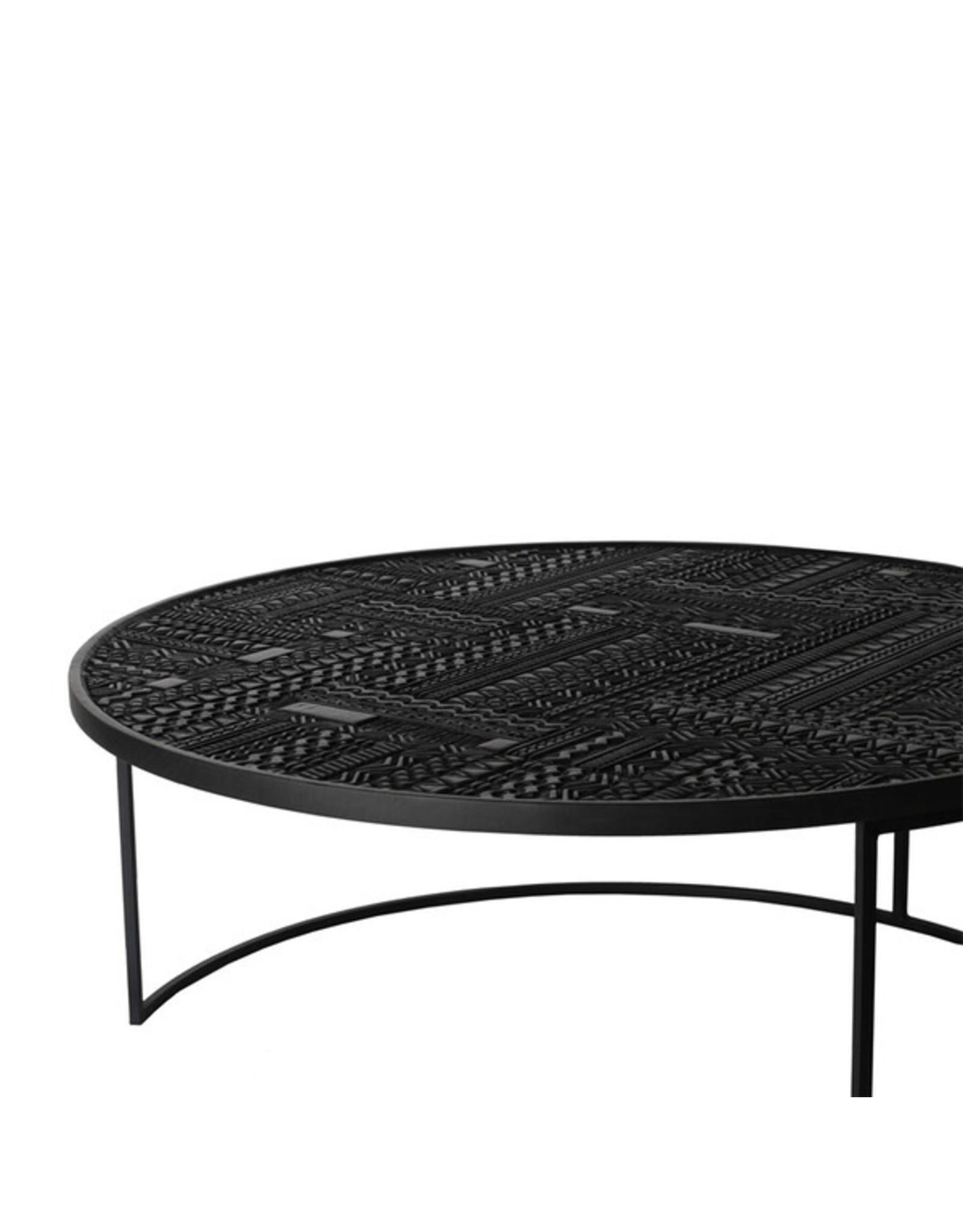 Ethnicraft Teak Tabwa Round Nesting coffee table - set of 3 - Varnished