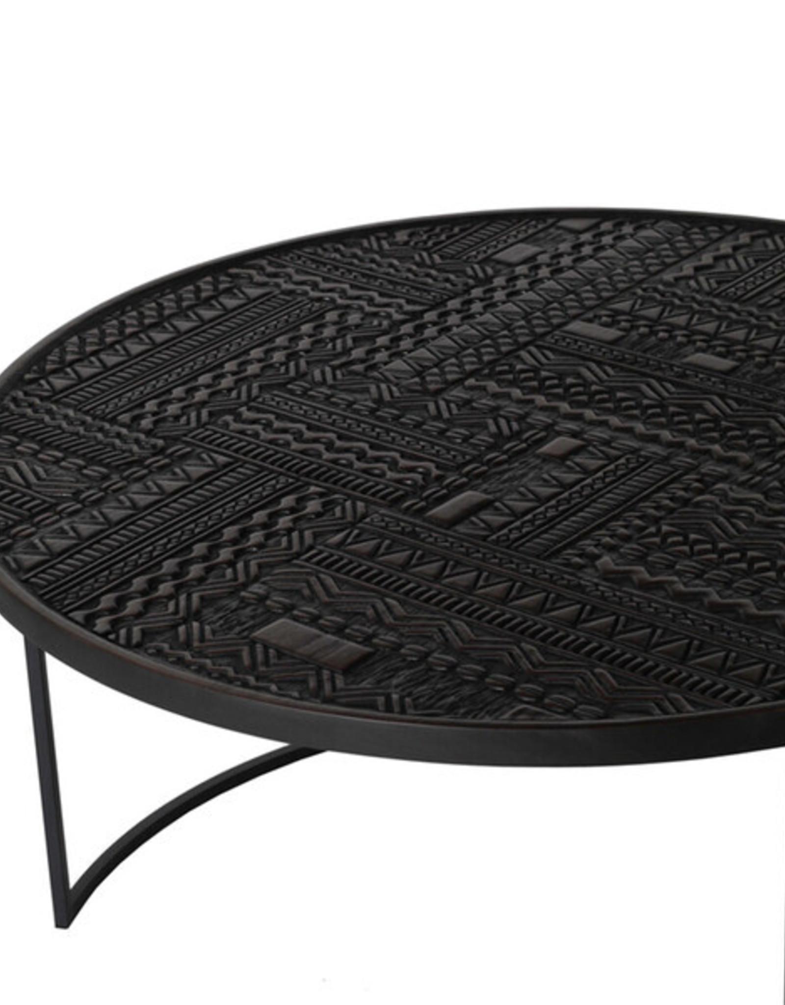Teak Tabwa Round Nesting coffee table - set of 3 - Varnished
