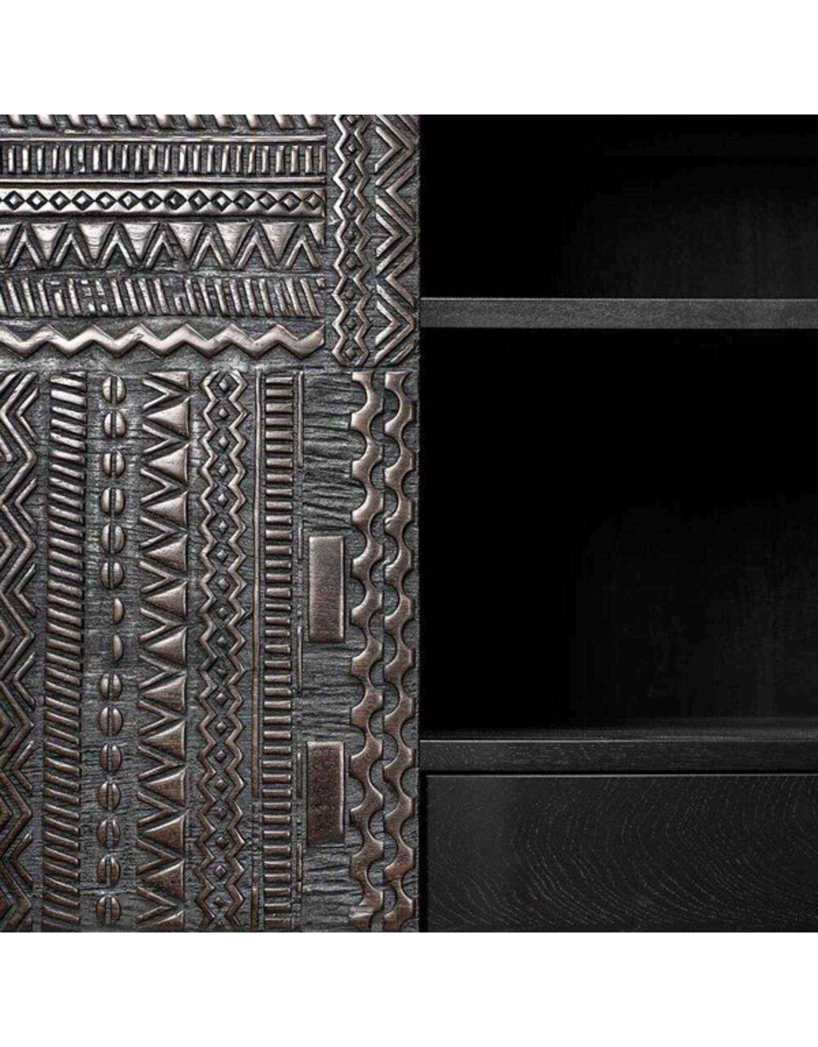 Ethnicraft Teak Tabwa storage cupboard - 2 doors - 2 drawers - Varnished