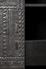 Teak Tabwa storage cupboard - 4 doors - 4 drawers - Varnished