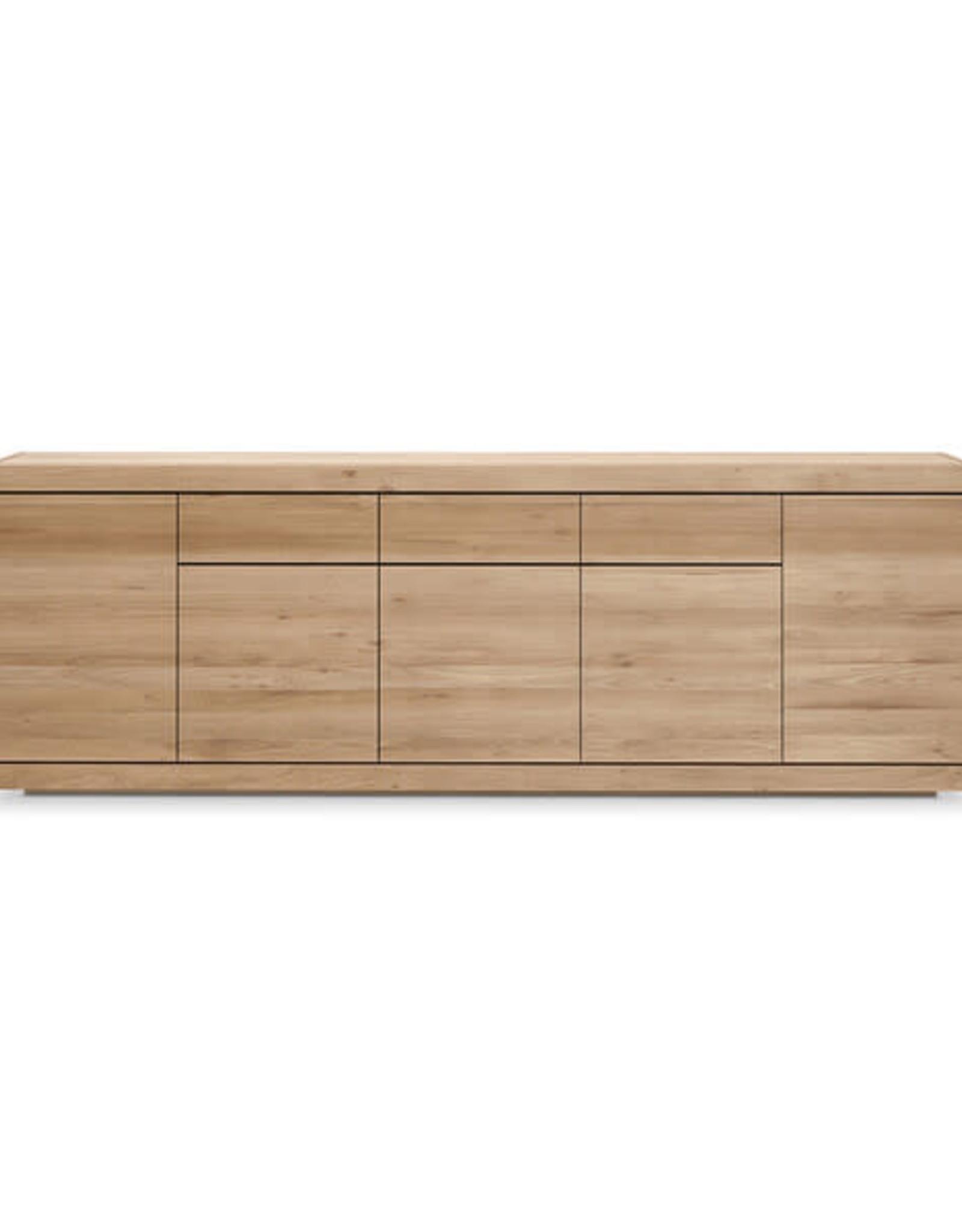 Oak Burger sideboard - 5 doors - 3 drawers