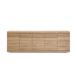 Ethnicraft Oak Burger sideboard - 5 doors - 3 drawers