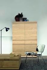 Oak Burger storage cupboard - 4 doors - 2 drawers