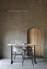 Oak Bok adjustable desk - black frame - US