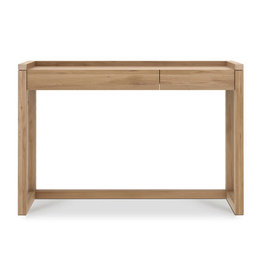 Oak Frame Desk - 2 drawer