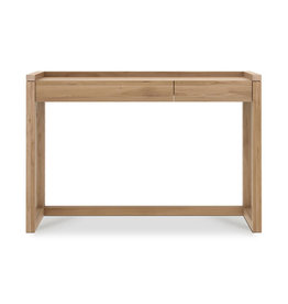 Ethnicraft Oak Frame Desk - 2 drawer
