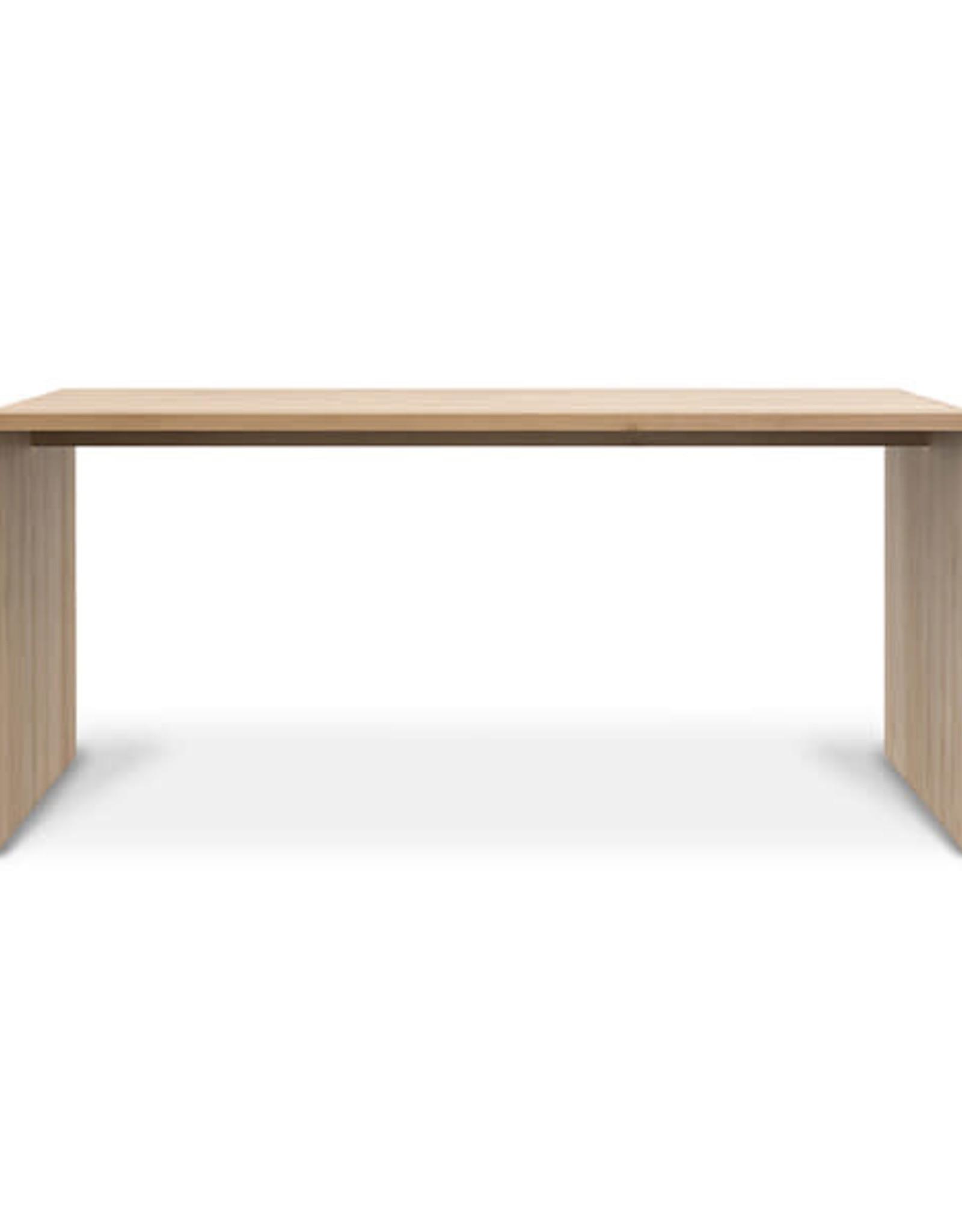 Oak U Desk, 68 x 31.5