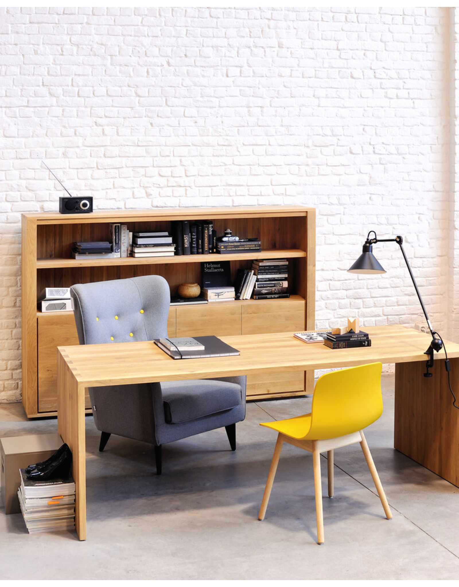 Ethnicraft Oak U Desk, 68 x 31.5