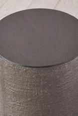 Global Views Hemp Etched Barrel Table - Black Nickel