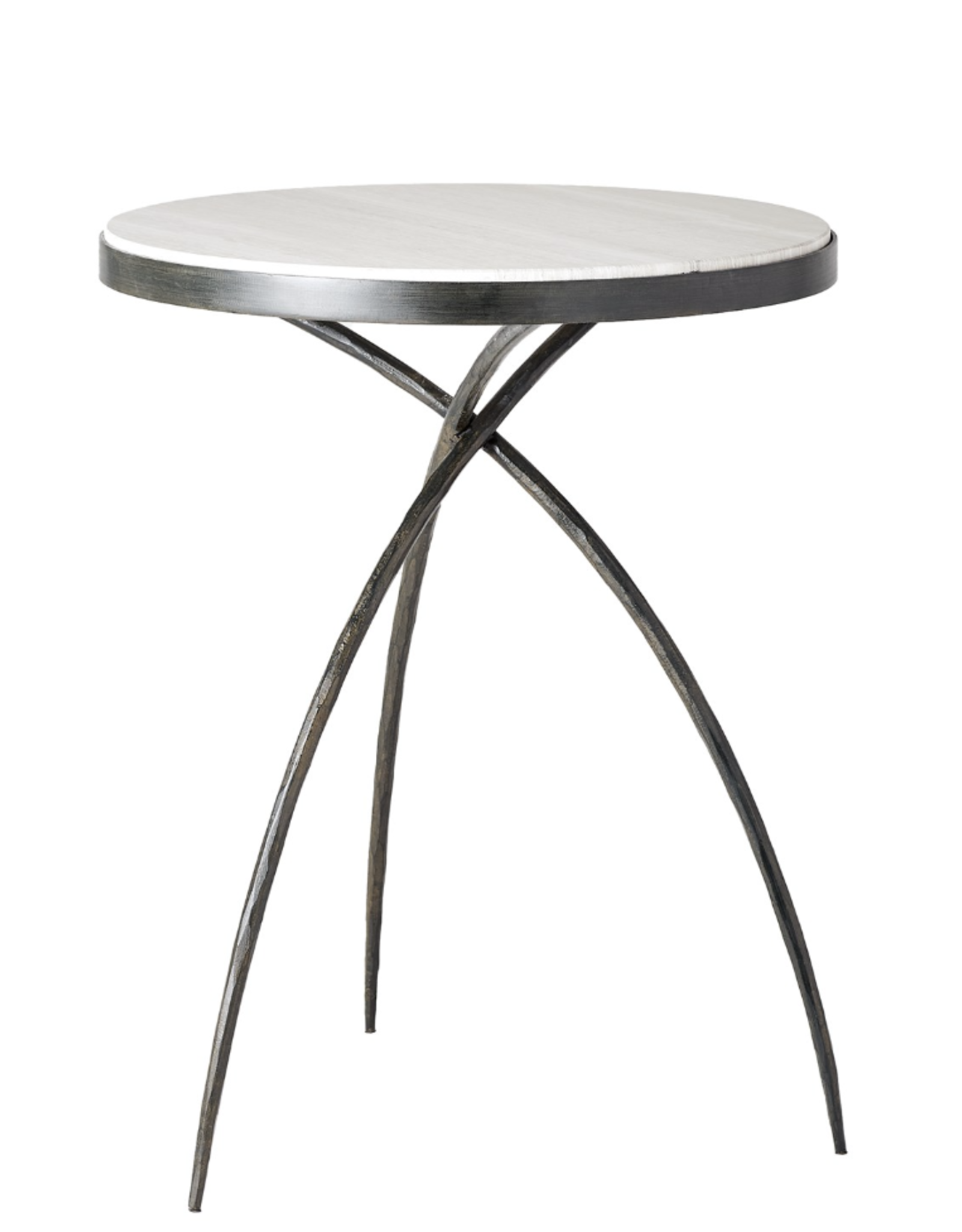 Global Views Tripod Table w/Grey Marble Top-Small