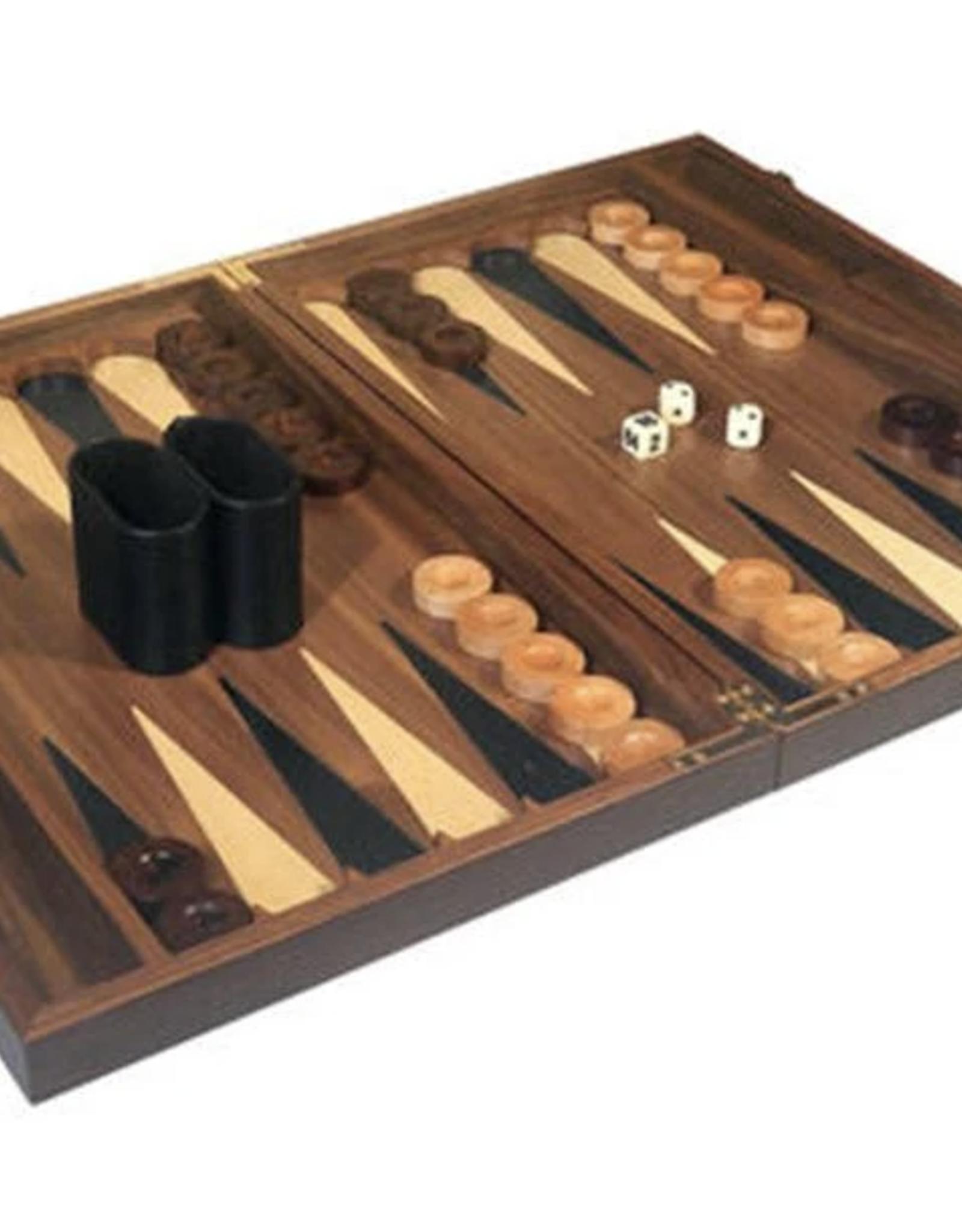 Walnut Backgammon Set, 18