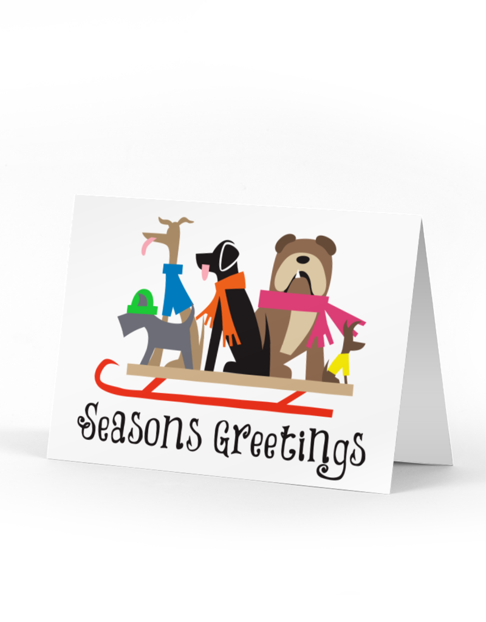 Boxed Set of Doggie Sledders Holiday Cards