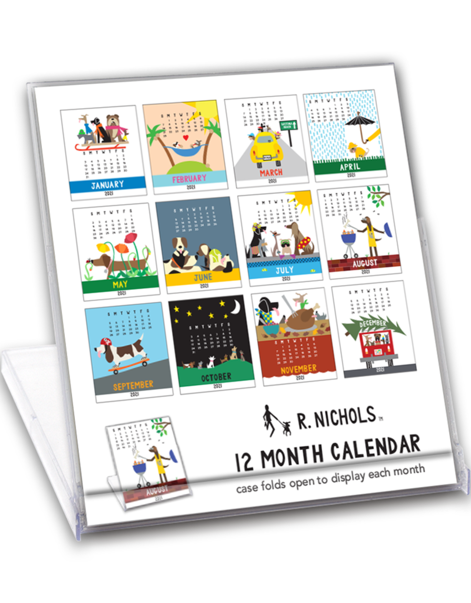 2021 Dog Desk Calendar