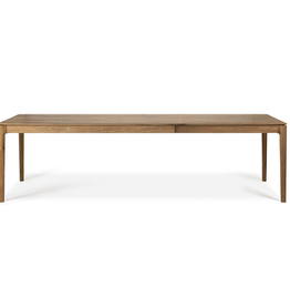 Teak Extendable Dining Table 55.5/87in