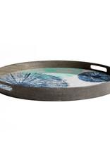 Umbrellas glass tray - round - S 19 x 19 x 2