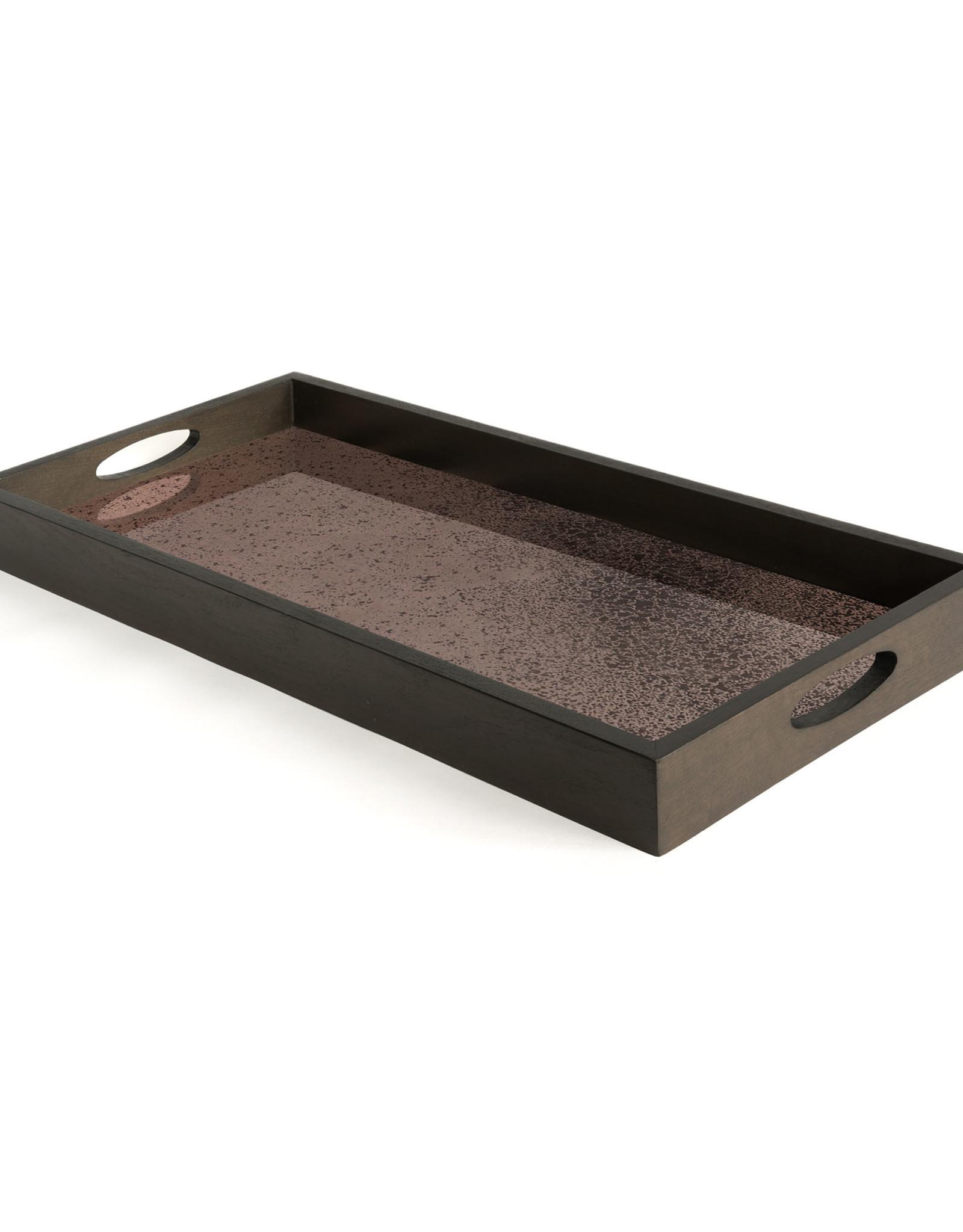 Bronze mirror tray - rectangular - M 27 x 12 x 2