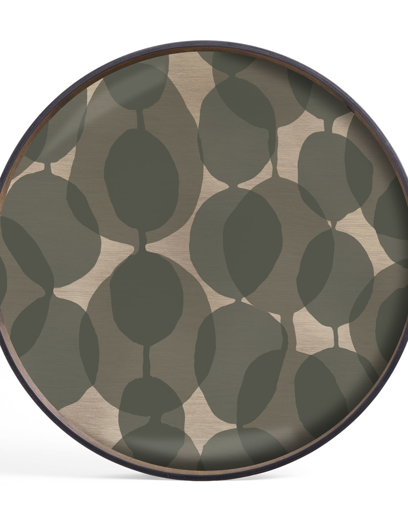 Connected Dots glass tray - round - S 19 x 19 x 2
