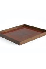 Pumpkin Square glass tray - square - L 20 x 20 x 2