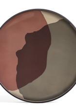 Pinot Combined Dots glass tray - round - XL 36 x 36 x 2