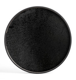 Charcoal mirror tray - round - S 19 x 19 x 2