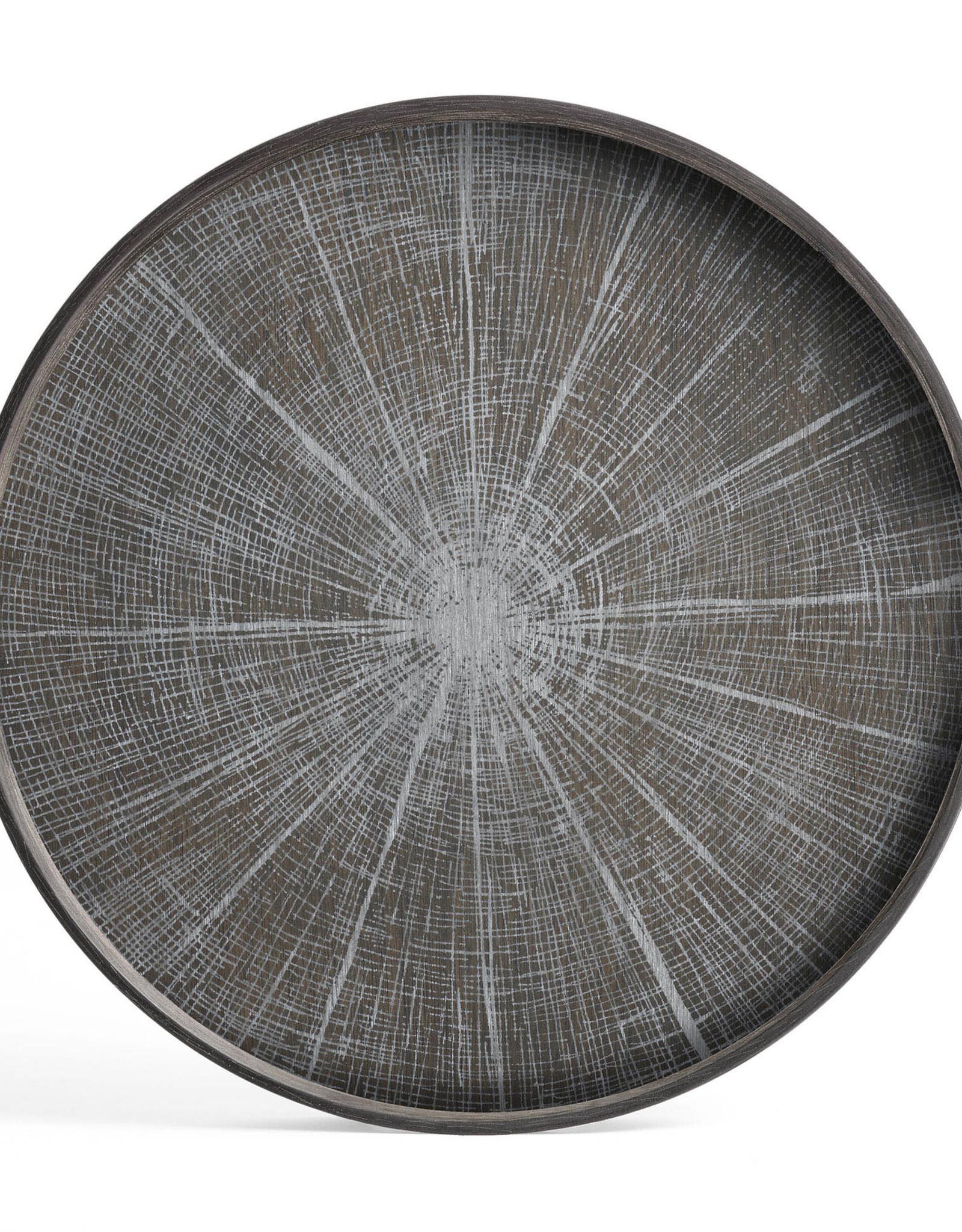 White Slice wooden tray - round - S 19 x 19 x 2