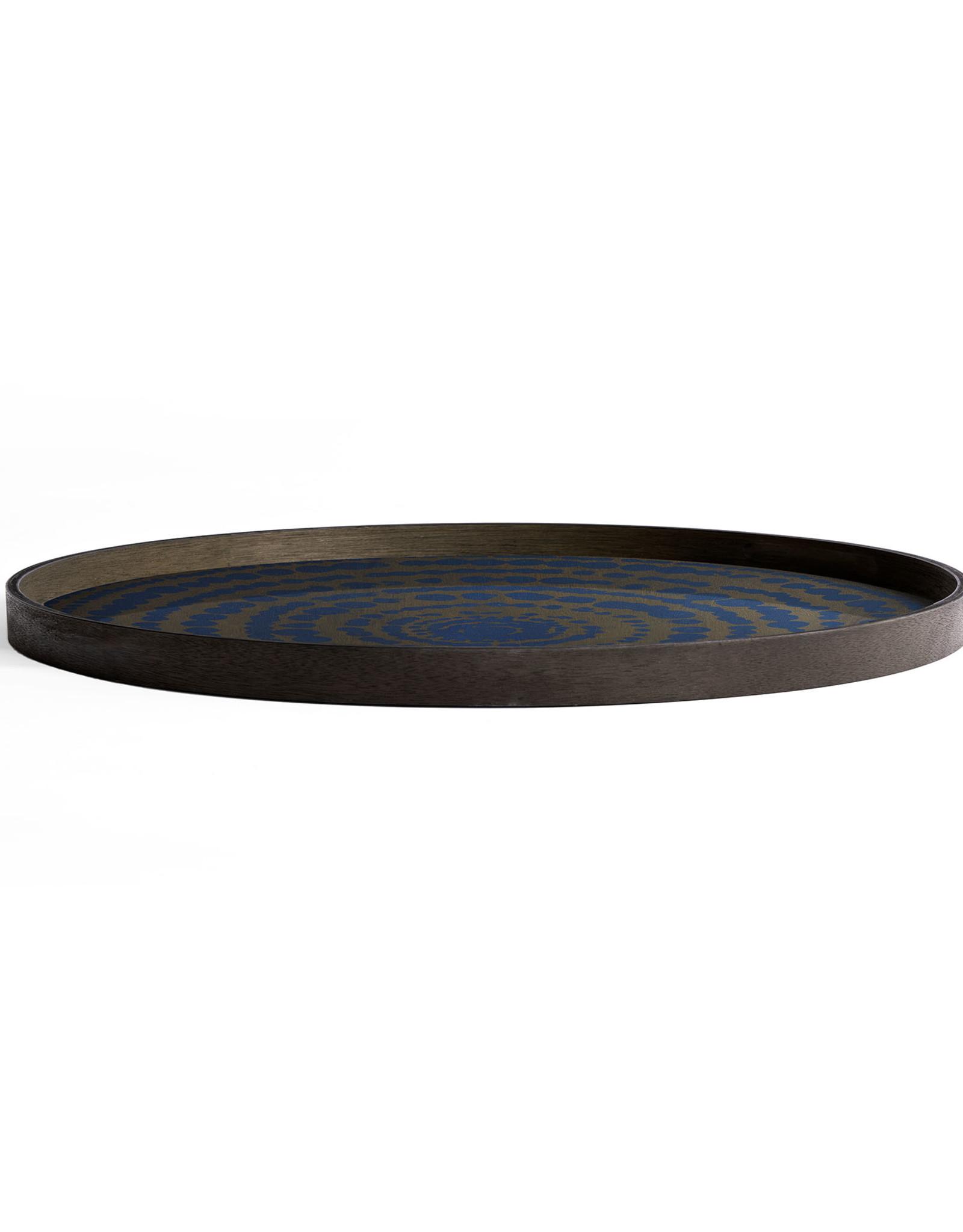 Midnight Beads wooden tray - round - XL 36 x 36 x 2