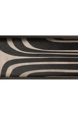 Graphite Curves wooden tray - rectangular - M 27 x 12 x 2